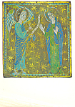 Click here to enlarge image and see more about item cs2997: The Annunciation Plaque of Champleve Enamel Postcard cs2997