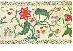 Silk Embroidered Bed Cover Postcard cs2999