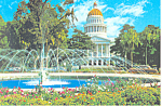 Click here to enlarge image and see more about item cs3011: State Capitol and Fountain, Sacramento,California