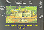 Click here to enlarge image and see more about item cs3022: London England Greetings From Buckingham Palace cs3022