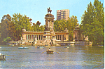 Madrid Spain Retiro Park Basin and Monument cs3054