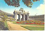 Click here to enlarge image and see more about item cs3059: Brussels Belgium,Arch of 5oth Anniversary Palace