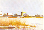 Click here to enlarge image and see more about item cs3064: Dutch Town in Winter KLM Issued Card cs3064