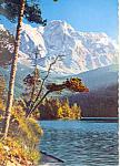 Eibsee, Germany gegen Zugspitze