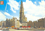 Click here to enlarge image and see more about item cs3142: Antwerpen Belgium Grand Square and Cathedral cs3142