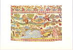 Table Cover Embroidered Postcard cs3242