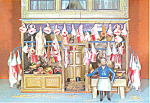 Model of a Butcher s Shop Postcard