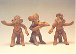 Three Male Figures Ceramic Postcard cs3246