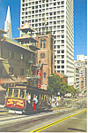 Click here to enlarge image and see more about item cs3261: California Street Cable Car in Chinatown