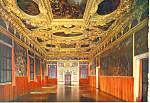 Click here to enlarge image and see more about item cs3272: Venice Italy Ducal Palace The Voting Room Postcard cs3272