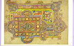 Click here to enlarge image and see more about item cs3305: Book of Kells Gospel of St Luke Postcard cs3305