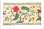 Click here to enlarge image and see more about item cs3307: Embroidered Bed Cover Postcard cs3307