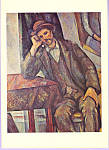 The Smoker Paul Cezanne Postcard cs3310