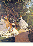Women in the Garden Claude Monet Postcard cs3318
