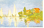 Sailboats at Argenteuil Claude Monet Postcard cs3319