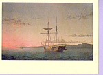 Lumber Schooners at Evening Fitz Hugh Lane Postcard cs3324