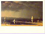 Thunderstorm Martin Johnson Heade Postcard cs3350