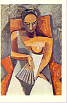 Woman with a Fan Pablo Picasso Postcard cs3369