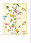 Design for Woven Silk  Anna Maria Garthwaite Postcard cs3373