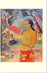 Where are you going  Paul Gauguin Postcard cs3374