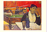 Au Cafe Mme Ginoux Paul Gauguin Postcard cs3375