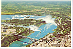 Rainbow Bridge Niagara Falls Canada Postcard cs3410