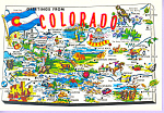 Click here to enlarge image and see more about item cs3438: State Map,Colorado