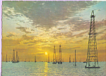 Click here to enlarge image and see more about item cs3605: Oil Towers in Maracaibo Lake Venezuela