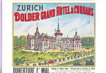 Plakat fur Grand Hotel Dolder, Zurich