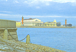 Click here to enlarge image and see more about item cs3685: View of the Spit of  Vasilievsky Island from Palace