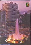 Click here to enlarge image and see more about item cs3744: Fountain and Marina's Square, Malaga (Costa del Sol)