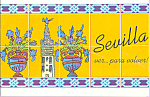 Tiles Sevilla Spain Postcard cs3791
