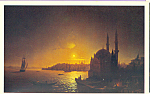 View of Constantinople by Moonlight Postcard cs3852