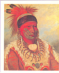 Click here to enlarge image and see more about item cs3870: The White Cloud, Head Chief of the Iowas