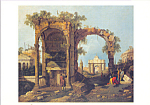 Click here to enlarge image and see more about item cs3875: Capriccio con rovine ed edifici calssici Postcard cs3875