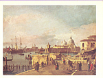 Venice The Quay of the Plazzetta Canaletto Postcard cs3883