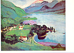 Click here to enlarge image and see more about item cs3889: The Lake Annecy Arthur B Carles Postcard cs3889