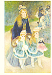 Mother and Children Pierre Auguste Renoir Postcard cs3892