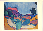 Click here to enlarge image and see more about item cs3912: The Road on the Mountains  Andre Derain Postcard cs3912