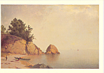 Beach at Newport John Frederick Kensett Postcard cs3921