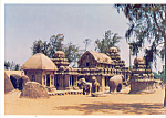 Click here to enlarge image and see more about item cs3930: Indian Temple Styles Mahabalipuram India cs3930