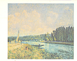 The Banks of the Oise Alfred Sisley Postcard cs3937