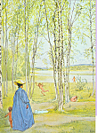 Click here to enlarge image and see more about item cs3949: Idyll Carl Larsson Postcard cs3949