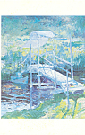 The White Bridge John Twachtman Postcard cs3950