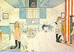 Click here to enlarge image and see more about item cs3970: Mammas och smaflickornas rum, Carl Larsson