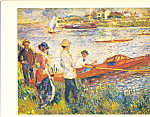 Oarsmen at Chatou Auguste Renoir Postcard cs3981