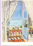 Click here to enlarge image and see more about item cs3985: Window at Nice Henri Matisse Postcard cs3985
