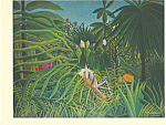 Horse Attacked by a Jaguar Henri Rousseau Postcard cs3988