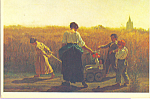 The Baby Carriage Eastman Johnson Postcard cs3996