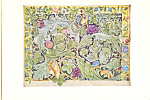 Design for Tapestry William Morris Postcard cs4004